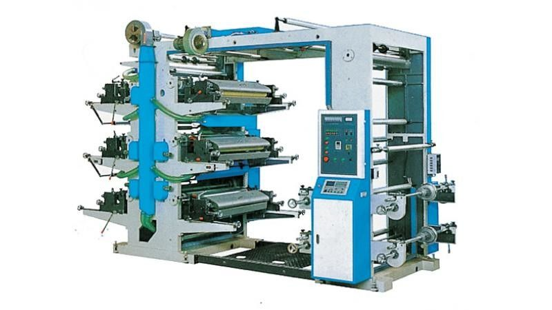 Low Noise 4 Color Flexo Printing Mahcine For PE / PP Plastic Woven Bags
